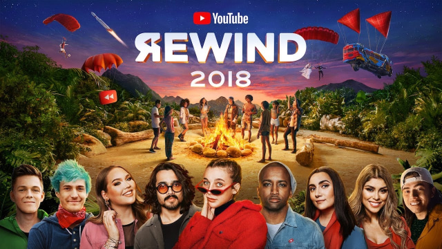 YouTube Rewind 2018 Jadi Video dengan 'Dislike' Terbanyak (56440)