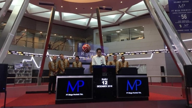 Pencatatan Perdana Saham PT Mega Perintis Tbk (Zone) di Bursa Efek Indonesia (BEI).
