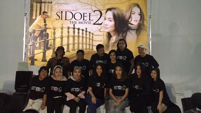 Konferensi pers syuting pertama Si Doel The Movie 2