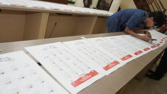 Validasi nama surat suara pemilihan umum anggota DPR RI 2019