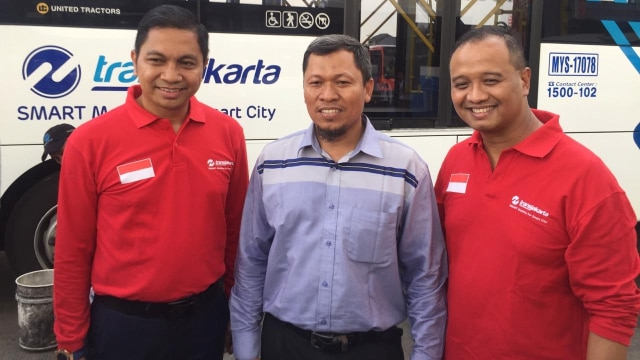 Dirut Transjakarta Agung Wicaksono, Direktur Operasi Transjakarta Daud Joseph, Sekretaris Persija Darwis Sakmoto