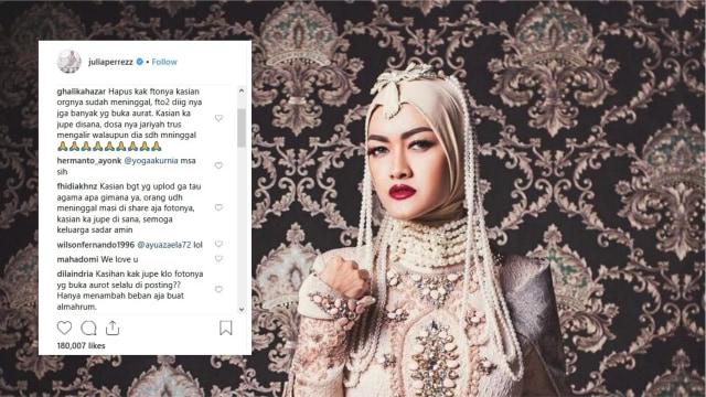 Unggah Foto Baru, Akun Instagram Julia Perez Dikritik Warganet (59756)