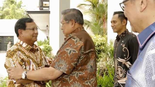 Pertemuan Prabowo dan SBY, kediaman SBY