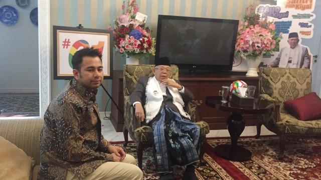 Raffi Ahmad mengunjungi rumah Ma'ruf Amin
