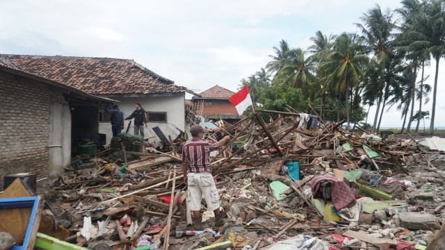 Kondisi Desa Kunjir, Kecamatan Rajabasa, Lampung Selatan, tsunami