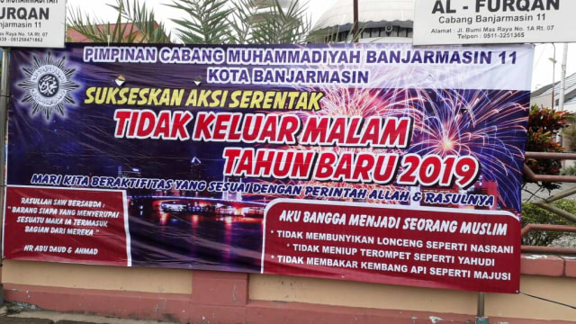 Alasan Muhammadiyah Kalsel Tolak Perayaan Tahun Baru 2019