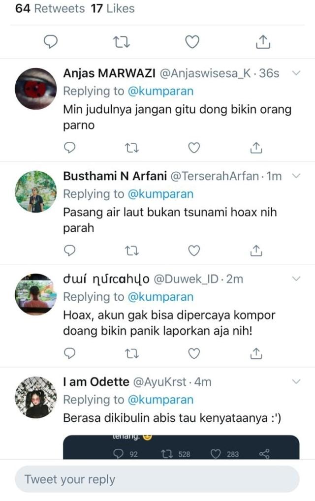 Para netizen yang membully kumparan di Twitter