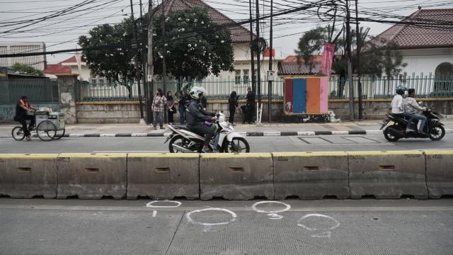 TKP penembakan anggota TNI di Jalan Jatinegara Barat