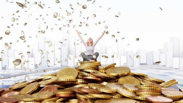 Ilustrasi wanita kaya
