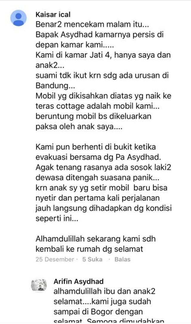 Testimoni ibu korban tsunami di komentar tulisan Pemimpin Redaksi kumparan, Arifin Asydhad  (NOT COVER)