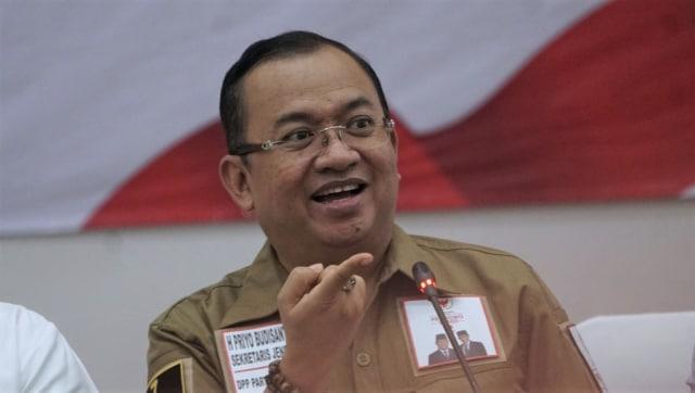 KPU, Priyo Budi Santoso Tim Badan Pemenangan Nasional Paslon 02, Penetapan Moderator