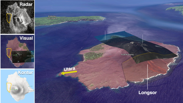 Melihat Penampakan Gunung Anak Krakatau Sebelum dan Sesudah Erupsi (319276)