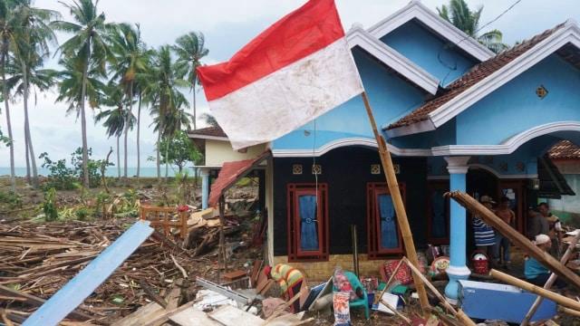 LIPSUS KRAKATAU, Kondisi Desa Kunjir, Kecamatan Rajabasa, Lampung Selatan, tsunami