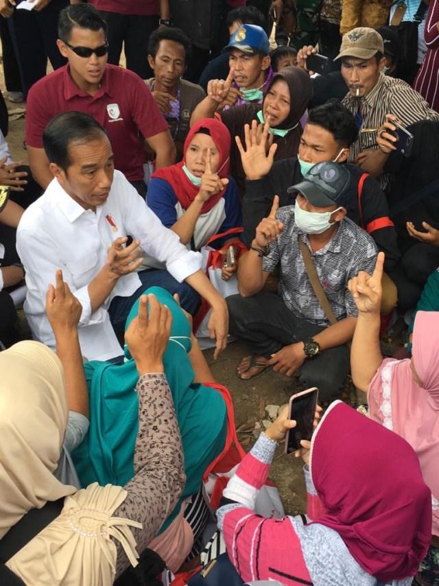 Jokowi, Tsunami Selat Sunda, Desa Kunjir, Lampung Selatan