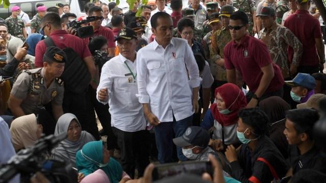Presiden Joko Widodo, Kunjungan Kerja, tsunami Selat Sunda, Desa Kunjir, Rajabasa Lampung Selatan, Lampung Selatan