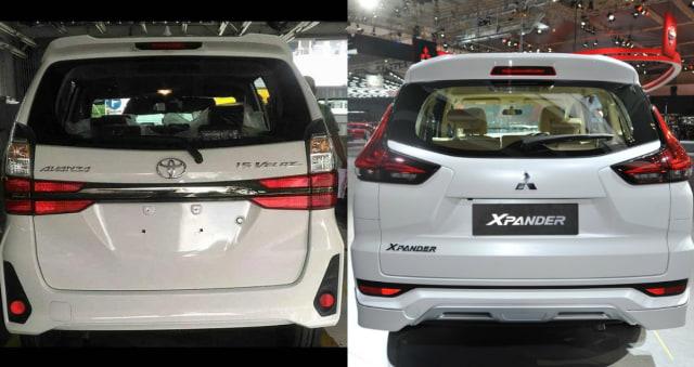 Perbandingan tampak belakang Avanza dan Xpander