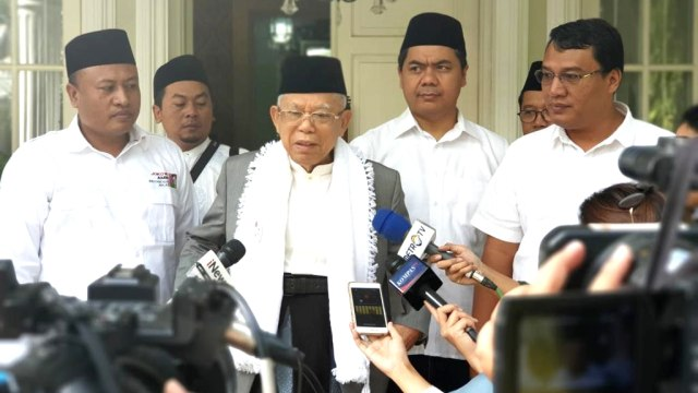Ma'ruf Amin Akan Fokus Jawab Isu Terorisme saat Debat Pilpres (700508)