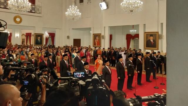 Presiden Joko Widodo, melantik 16 Dubes RI, negara sahabat, Istana Negara, Jakarta