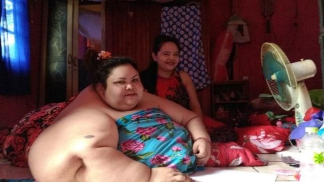 Titi Wati, wanita tergemuk di Kalimantan Tengah