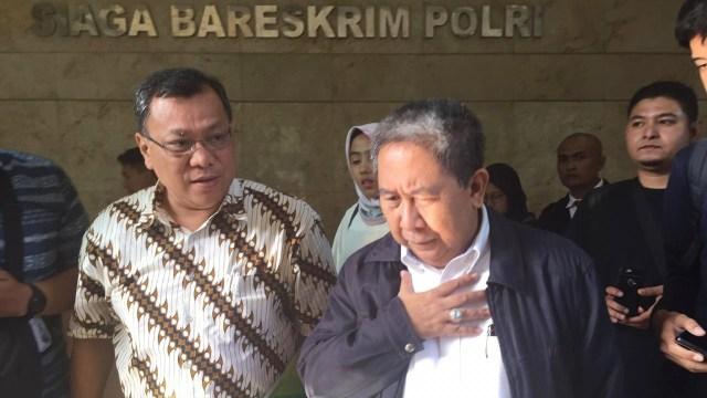 Eks petinggi BPJS TK Syafri Adnan Baharuddin usai laporkan Ade Armando dan kliennya ke Bareskrim Polri