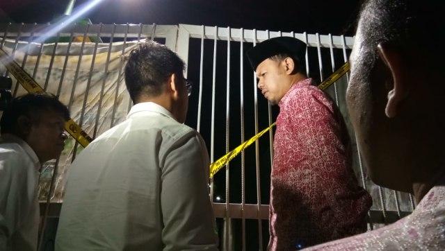 Walikota Bogor Bima Arya cek lokasi ditemukannya korban.