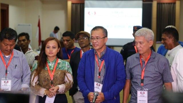 Para peserta diskusi Komite Perubahan Sepak Bola Nasional (KPSN