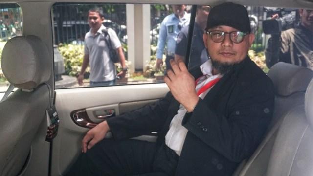 Penyidik KPK, Novel Baswedan saat berada di Pengadilan Tipikor Jakarta