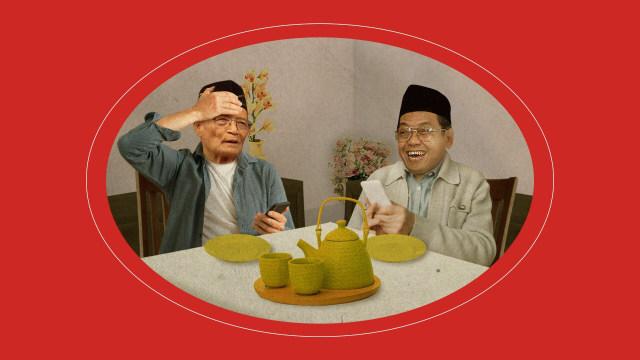 """Ilustrasi Lipsus """"Dakwah Garis Lucu NU-Muhammadiyah"""", liputan khusus"""