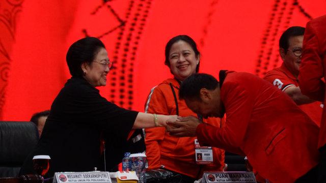 Ketum PDIP Megawati Soekarnoputri di Penutupan Rakornas