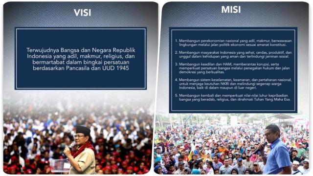 Prabowo- Sandi, visi misi kampanye
