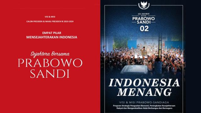 Visi misi Prabowo Subianto-Sandiaga Uno