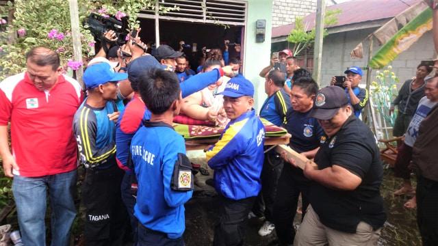 Evakuasi, ibu Titi Wati, penderita obesitas, Tagana Provinsi Kalimantan
