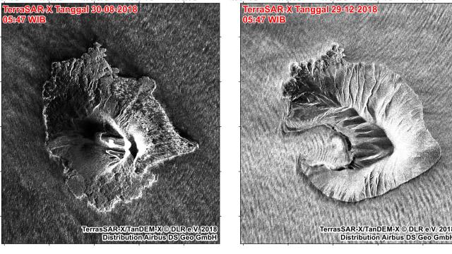 Citra Satelit Gunung Anak Krakatau