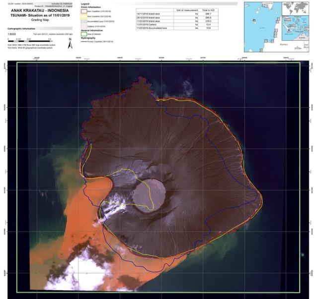(NOT COVER) Gunung Anak Krakatau, Satelit