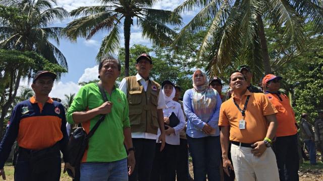 Doni Monardo, Tinjau, Lokasi, Tsunami