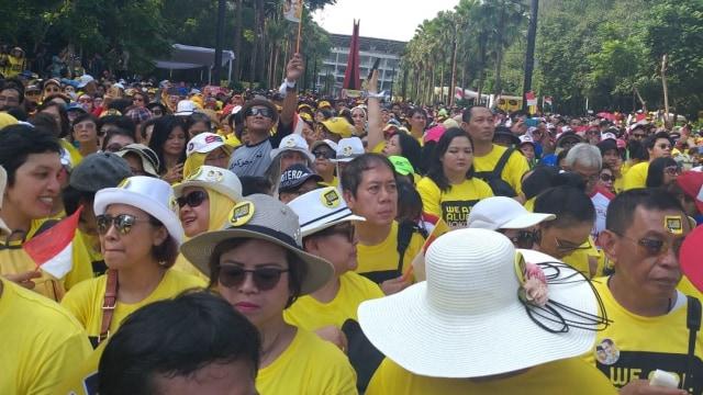 Suasana jelang deklarasi dukungan alumni UI untuk Jokowi-Ma'ruf Amin