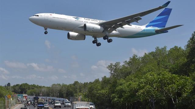 pesawat Garuda Indonesia, Bandara Internasional I Gusti Ngurah Rai