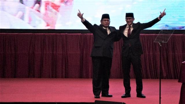 Prabowo Subianto, Sandiaga Uno, JCC, Senayan
