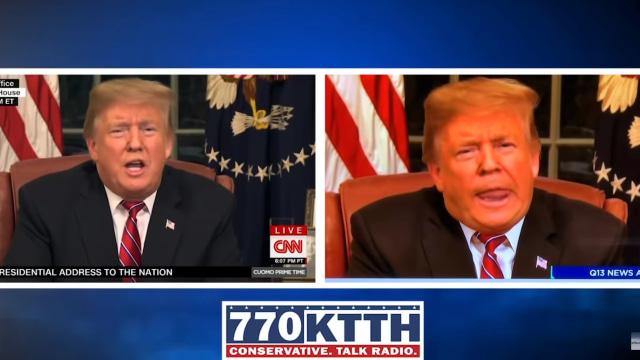 Video Donald Trump direkayasa