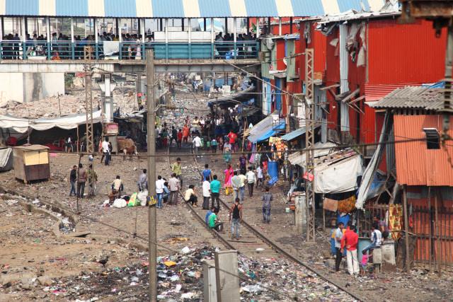 Potret Salah Satu Sudut di Dharavi, India