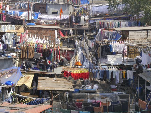 Lanskap Dharavi, India
