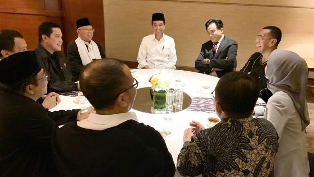 Persiapan debat Jokowi-Ma'ruf Amin di Djakarta Theatre