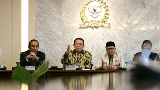 Ketua DPR RI Bambang Soesatyo,  Ketua Pemuda Muhammadiyah Sunanto