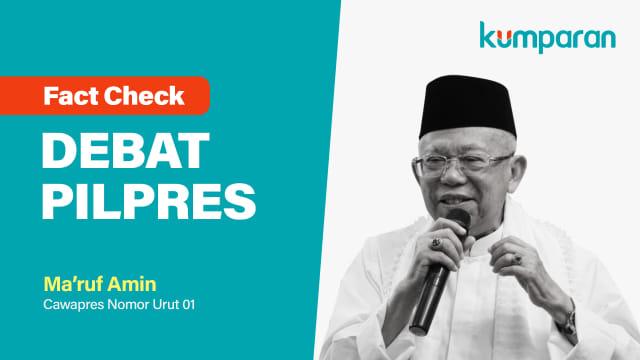 Fact Check Debat Pilpres, Ma'ruf Amin
