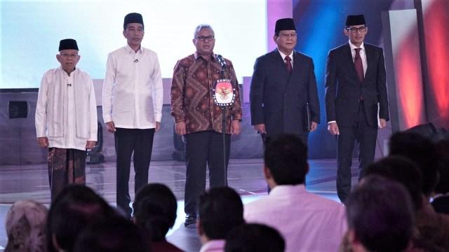 Prabowo-Sandi, Joko Widodo -Ma'ruf Amin, debat presiden