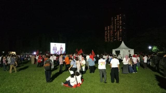 Foto: Keceriaan Debat Perdana Pilpres 2019 (123315)