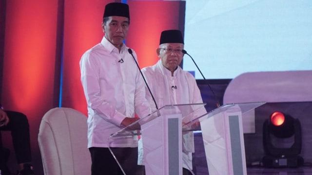 Debat Pertama Pilpres, Jokowi-Ma'ruf Amin