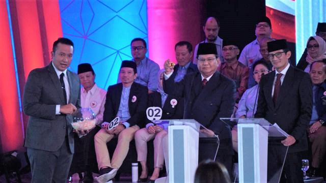 Debat Pertama Pilpres, Pasangan Calon nomor urut 02 Prabowo-Sandi