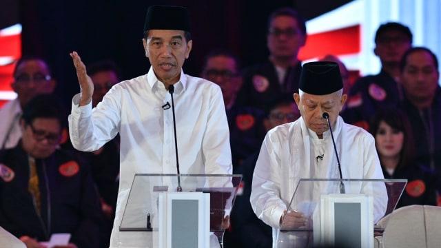 Debat Pertama Pilpres, Pasangan Calon nomor urut 01 Jokowi-Ma'ruf Amin