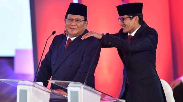 Foto: Keceriaan Debat Perdana Pilpres 2019 (123310)